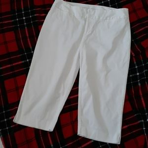 Madison White Cropped Pants Size 20W